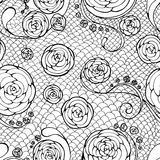 Black lace seamless pattern Royalty Free Stock Photography
