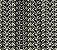 Black lace seamless pattern on white background Royalty Free Stock Photos