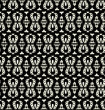 Black lace seamless pattern on white background Stock Photography
