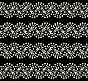Black lace seamless pattern on white background Stock Image
