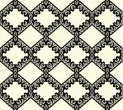 Black lace seamless pattern on white background Royalty Free Stock Photo