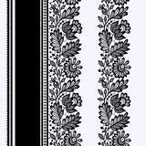 Black Lace Seamless Patterns. Royalty Free Stock Photography