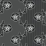 Black lace vector fabric seamless pattern Royalty Free Stock Photography