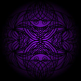 Black lace on violet Royalty Free Stock Images