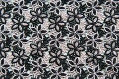 Black lace on white background Stock Image
