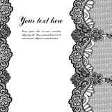 Black lace. On white background and place for your text Stock Images