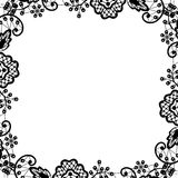 Black lace on white background Stock Images