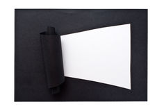 Black lacerated paper Royalty Free Stock Image