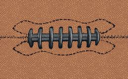Black Laces Detail on an American Football royalty free illustration