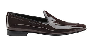 Black Lack men's shoes Royalty Free Stock Photography