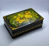 Black lacquerware box stock images