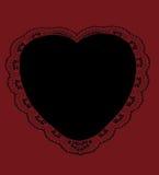 Black Lacy Heart vector illustration