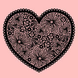 Black lacy heart Royalty Free Stock Photos