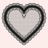 Black lacy openwork heart. Gentle luxurious accessory for the design of invitations, cards or decoupage. Vector illustration vector illustration