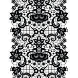 Lacy vintage trim. Black lacy vintage elegant trim. Vector illustration Stock Image