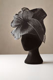 Black ladies dress accessory hat. For spring racing carnival Stock Photos