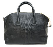Black ladies handbag, isolated Royalty Free Stock Image