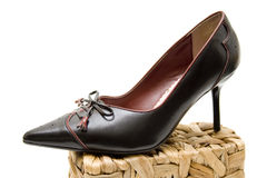 Black ladies shoe Stock Images