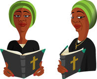 Black lady reading Bible Royalty Free Stock Photos