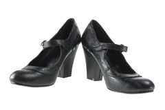Black Lady Shoes Stock Photography