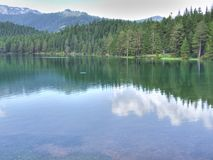 Black lake. With HDR effect. This lake is on the mountain Durmitor in Montenegro stock photography