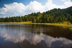 Black Lake in Austria Stock Image