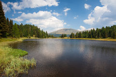 Black Lake in Austria Royalty Free Stock Images