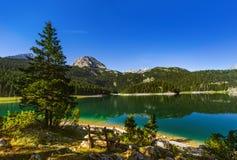 Black Lake (Crno Jezero) in Durmitor - Montenegro. Nature travel background Stock Photos