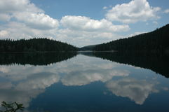 Black Lake. Crno jezero,Durmitor, National Park in Montenegro stock images