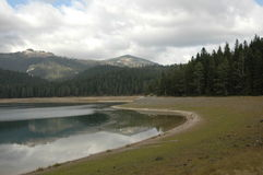 Black Lake. Crno jezero,Durmitor, National Park in Montenegro royalty free stock photo