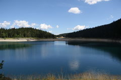 Black Lake. Crno jezero,Durmitor, National Park in Montenegro royalty free stock photography