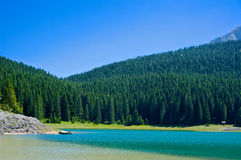 The Black lake in Durmitor national park, Montenegro Stock Images