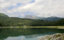 Black Lake. Durmitor National Park Montenegro. Black Lake. A small glacial lake that is located on the Mount Durmitor within the Durmitor National Park in the Royalty Free Stock Image