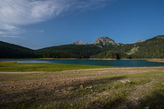 The black lake, Durmitor National Park, Montenegro. Landscape view of Durmitor National Park, Montenegro, the Black lake Royalty Free Stock Image