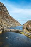 Black Lake at Gap of Dunloe Ireland. Gap of Dunloe in Kerry,Ireland Royalty Free Stock Photos