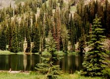 Free Black Lake In Seven Devils Mountains Stock Photo - 111678930