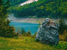 Black lake landscape in Montenegro. Beautiful nature royalty free stock images