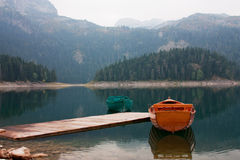Black lake in Montenegro Stock Photography