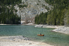 Black lake in Montenegro Stock Image