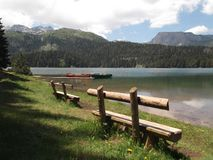 The Black Lake,The National Park Durmitor Stock Images