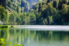 Black Lake. Panorama from Black Sea region Turkey Stock Photos