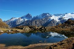 Black Lake, plateau de Paris in Alps, France Stock Images