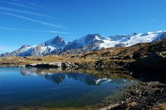 Black Lake, plateau de Paris in Alps, France Royalty Free Stock Image