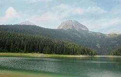 Black Lake. Durmitor National Park Montenegro. Black Lake. A small glacial lake that is located on the Mount Durmitor within the Durmitor National Park in the Stock Photo