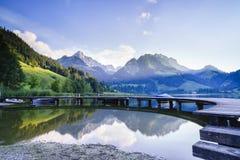Black lake in Switzerland Royalty Free Stock Image