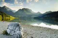 Black lake in Switzerland Stock Image