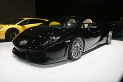 Black lamborghini Stock Photography