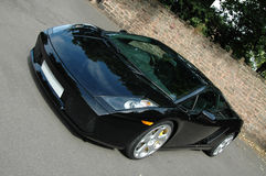 Black lamborghini murcielago sports car. Stock Photos