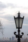 Black lantern on a background of dark sky. Kyiv. Royalty Free Stock Photos