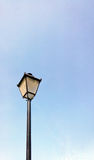 Black lantern on blue sky Royalty Free Stock Images